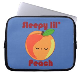 Kawaii Sleepy Lil' Peach laptop sleeve