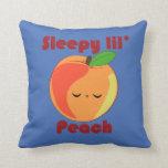 Kawaii Sleepy Lil' Peach pillow