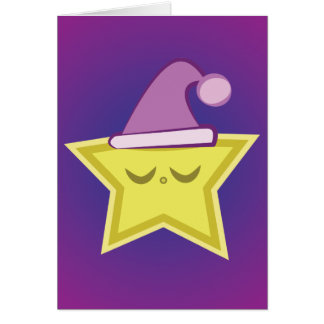 Kawaii Sleepy Star Card