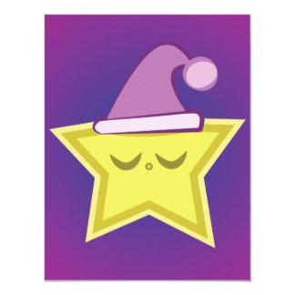 Kawaii Sleepy Star Invitations