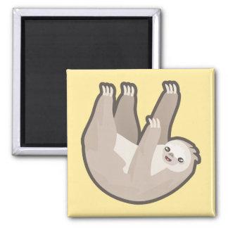 Kawaii Sloth 2 Inch Square Magnet