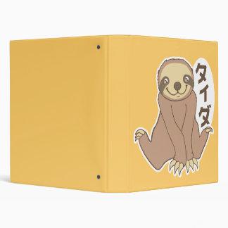 Kawaii Sloth Binder