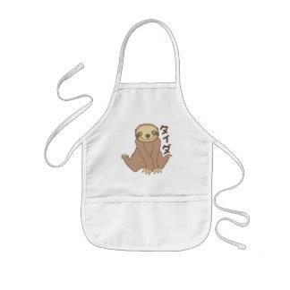 Kawaii Sloth Kids' Apron