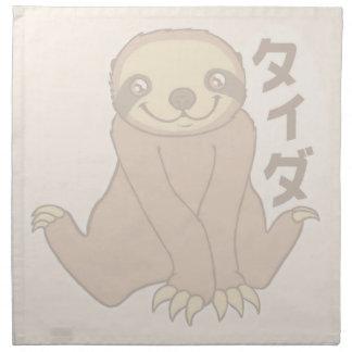 Kawaii Sloth Napkin
