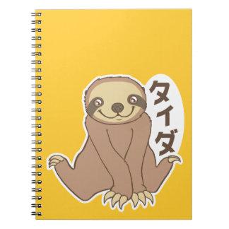 Kawaii Sloth Spiral Note Book