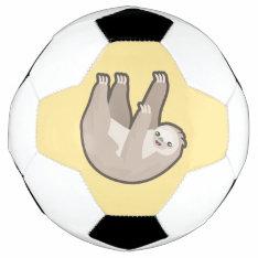 Kawaii Sloth Soccer Ball at Zazzle
