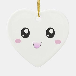 Kawaii smiley face ornament