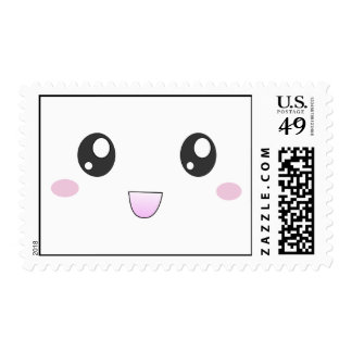 Kawaii smiley face postage stamps