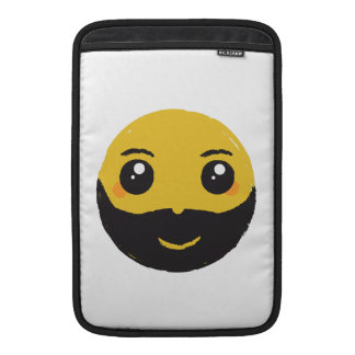 Kawaii Smiley Smiling with Beard & Mustache Sleeve For MacBook Air