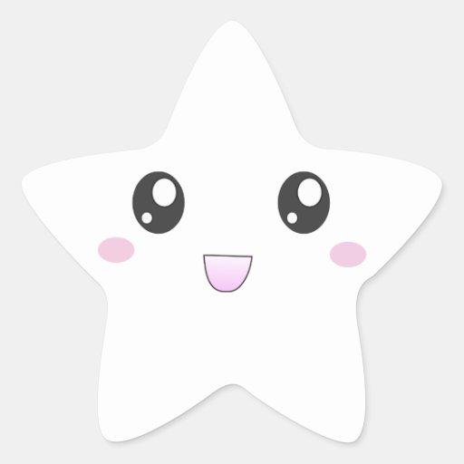 Kawaii smiley star stickers