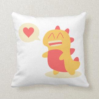Kawaii smiling Dino talking about love Pillow