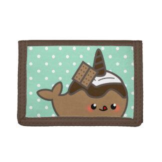 Kawaii Smore Narwhal & Marshmallow Trifold Wallet