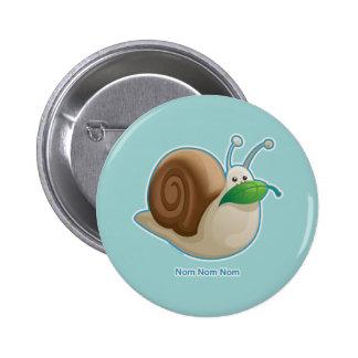 Kawaii Snail Button