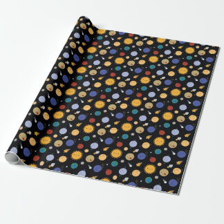 Kawaii Solar System Wrapping Paper