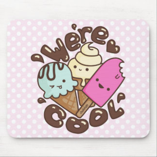 Kawaii somos rosa fresco de Mousepad del helado Alfombrillas De Ratones