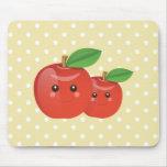 Kawaii sonriente Apple Mousepad Tapetes De Ratones