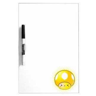 Kawaii Sour Lemon Mushroom Dry-Erase Board