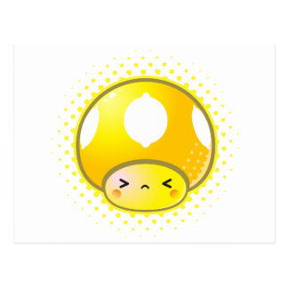 Kawaii Sour Lemon Mushroom Postcard
