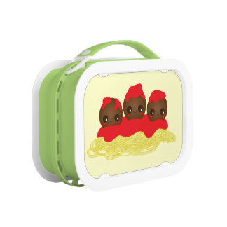 Kawaii Spaghetti and Meatballs Yubo Lunchbox