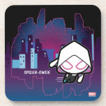 Kawaii Spider-Gwen City Skyline Beverage Coaster