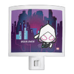 Kawaii Spider-Gwen City Skyline Night Light