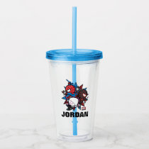 Kawaii Spider-Man, Ghost-Spider, & Miles Morales Acrylic Tumbler