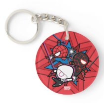 Kawaii Spider-Man, Ghost-Spider, & Miles Morales Keychain