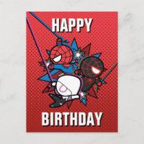 Kawaii Spider-Man, Ghost-Spider, & Miles Morales Postcard