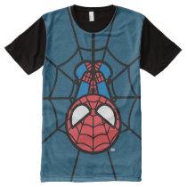 Kawaii Spider-Man Hanging Upside Down All-Over-Print T-Shirt