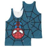 Kawaii Spider-Man Hanging Upside Down All-Over-Print Tank Top