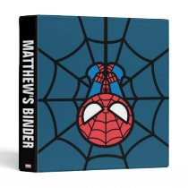 Kawaii Spider-Man Hanging Upside Down Binder