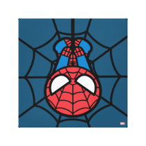 Kawaii Spider-Man Hanging Upside Down Canvas Print