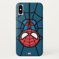 Kawaii Spider-Man Hanging Upside Down iPhone X Case