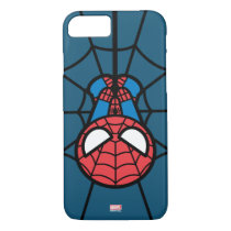 Kawaii Spider-Man Hanging Upside Down iPhone 8/7 Case