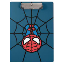 Kawaii Spider-Man Hanging Upside Down Clipboard