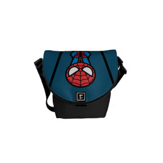Kawaii Spider-Man Hanging Upside Down Courier Bag