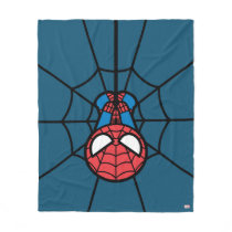 Kawaii Spider-Man Hanging Upside Down Fleece Blanket