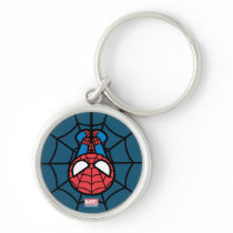 Kawaii Spider-Man Hanging Upside Down Keychain