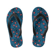 Kawaii Spider-Man Hanging Upside Down Kid's Flip Flops