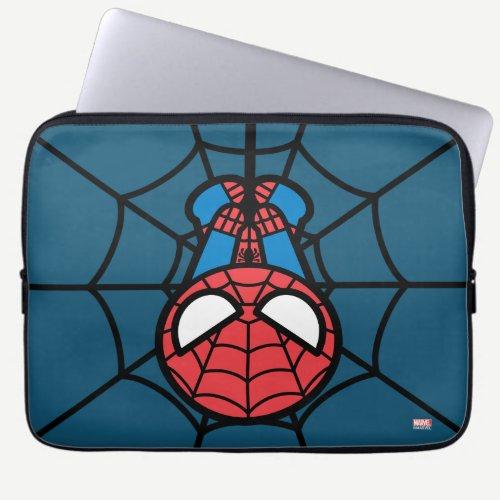 Kawaii Spider-Man Hanging Upside Down Laptop Sleeve
