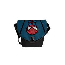 Kawaii Spider-Man Hanging Upside Down Messenger Bag