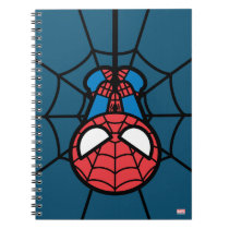 Kawaii Spider-Man Hanging Upside Down Notebook