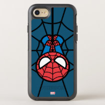 Kawaii Spider-Man Hanging Upside Down OtterBox Symmetry iPhone SE/8/7 Case