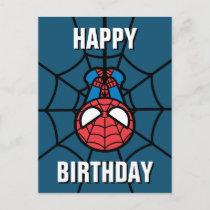 Kawaii Spider-Man Hanging Upside Down Postcard