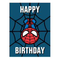 Kawaii Spider-Man Hanging Upside Down Postcard