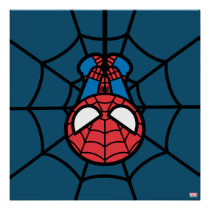 Kawaii Spider-Man Hanging Upside Down Poster