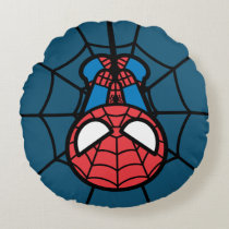 Kawaii Spider-Man Hanging Upside Down Round Pillow