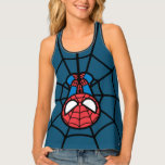 Kawaii Spider-Man Hanging Upside Down Tank Top
