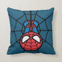 Kawaii Spider-Man Hanging Upside Down Throw Pillow