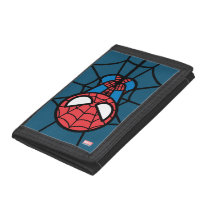 Kawaii Spider-Man Hanging Upside Down Tri-fold Wallet